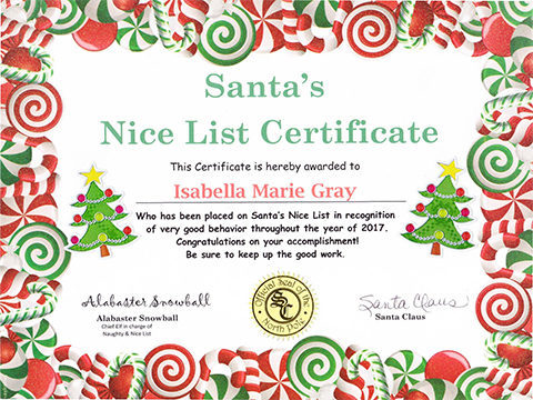 Santa letter package north pole letters keepsakes santas nice certificate spiritdancerdesigns Image collections
